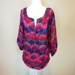 Alice and Trixie colorful silk blouse